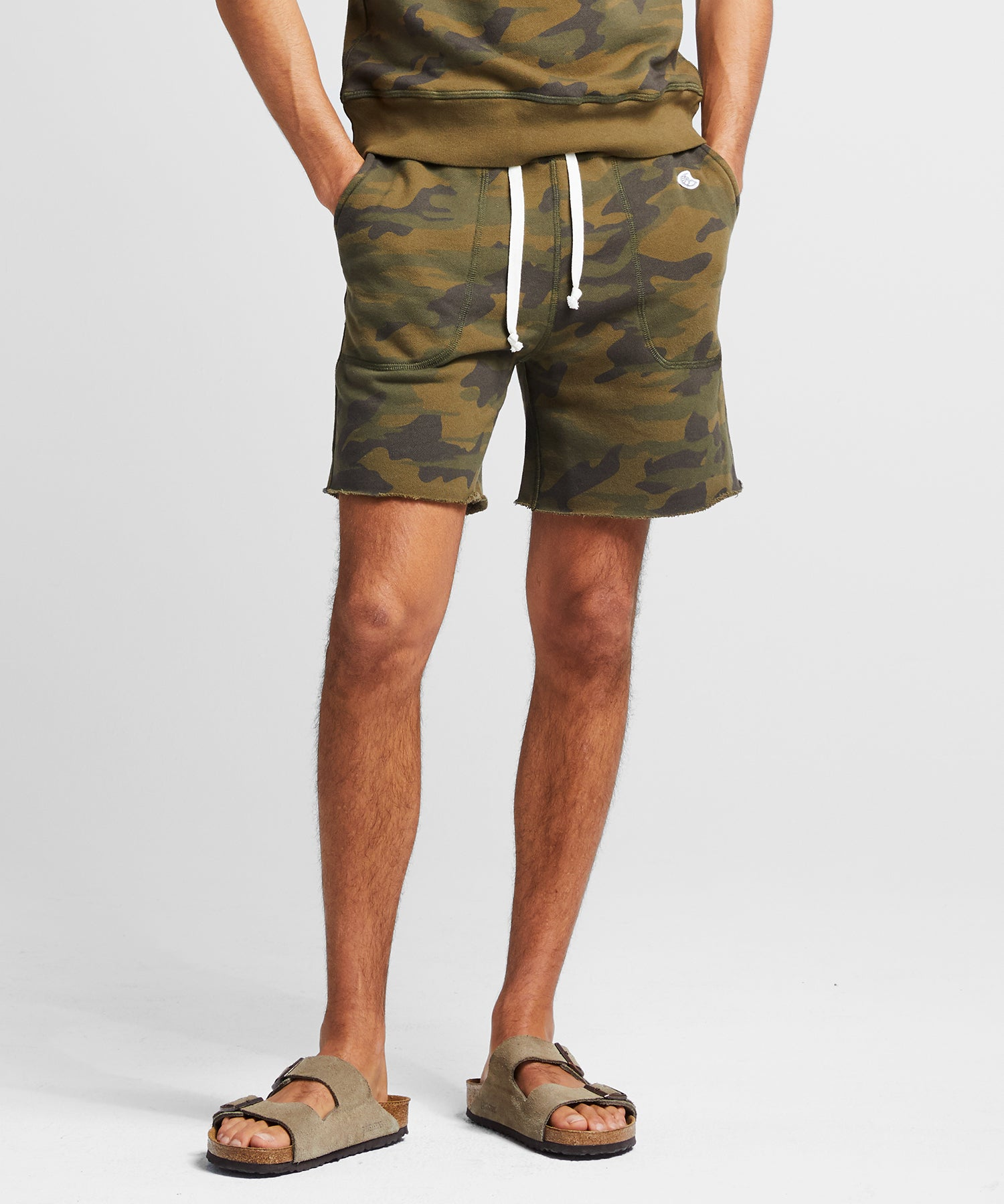 Fatigue Camo Cut Off Sweatshort