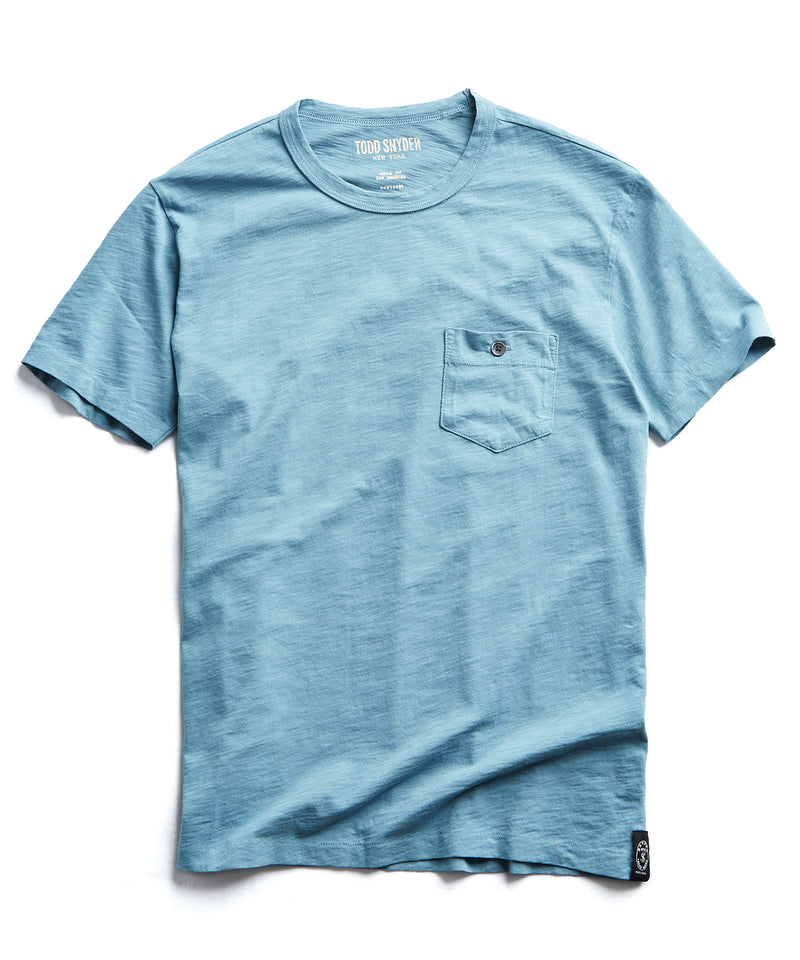 Made in L.A. Slub Jersey Pocket T-Shirt in Hudson Bay