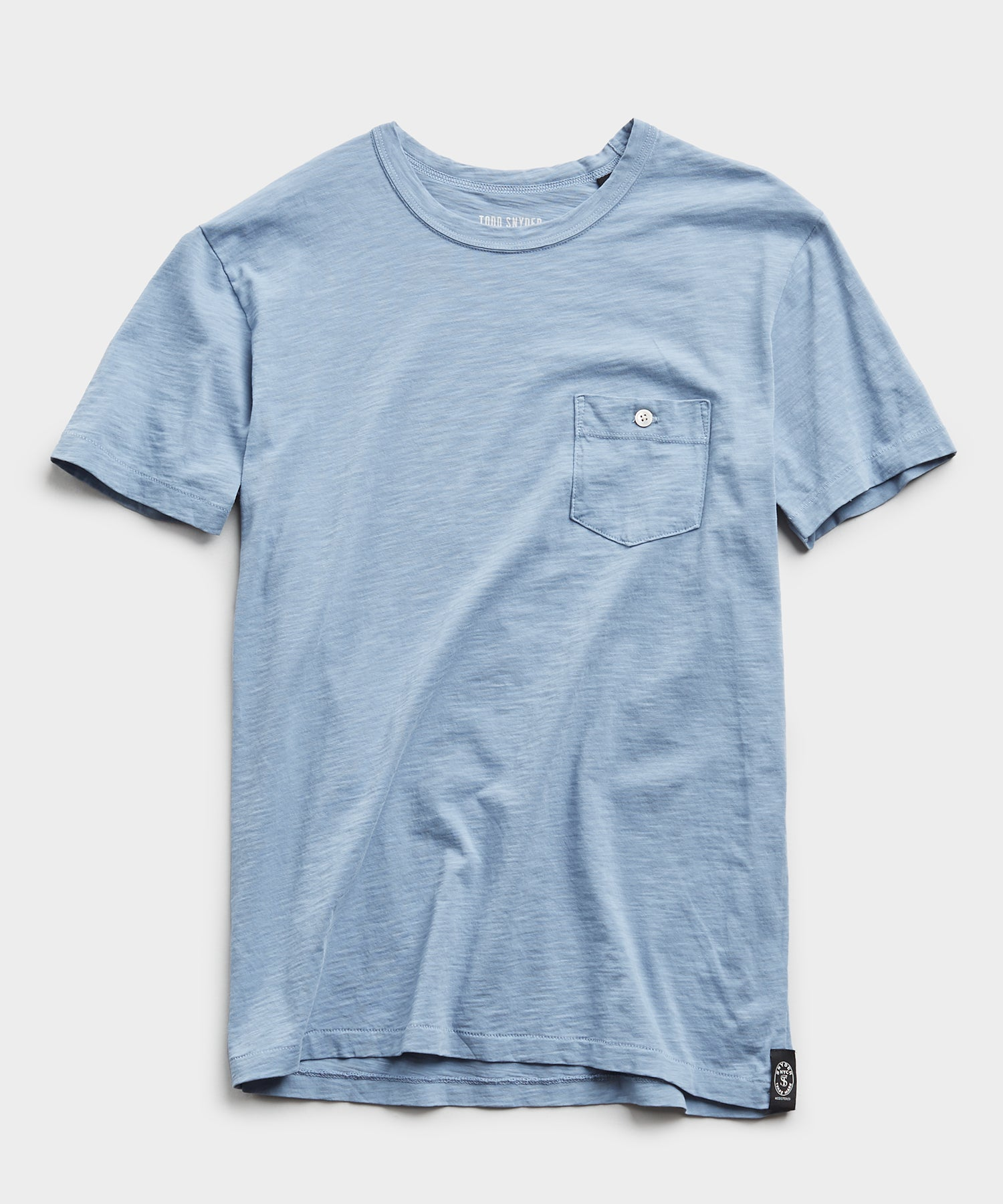 Made In L.A. Slub Jersey Pocket Tee in Blue Mist