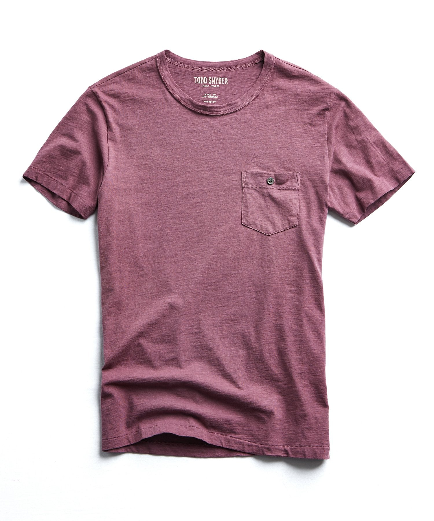 Made in L.A. Slub Jersey Pocket T-Shirt in Smokey Mauve