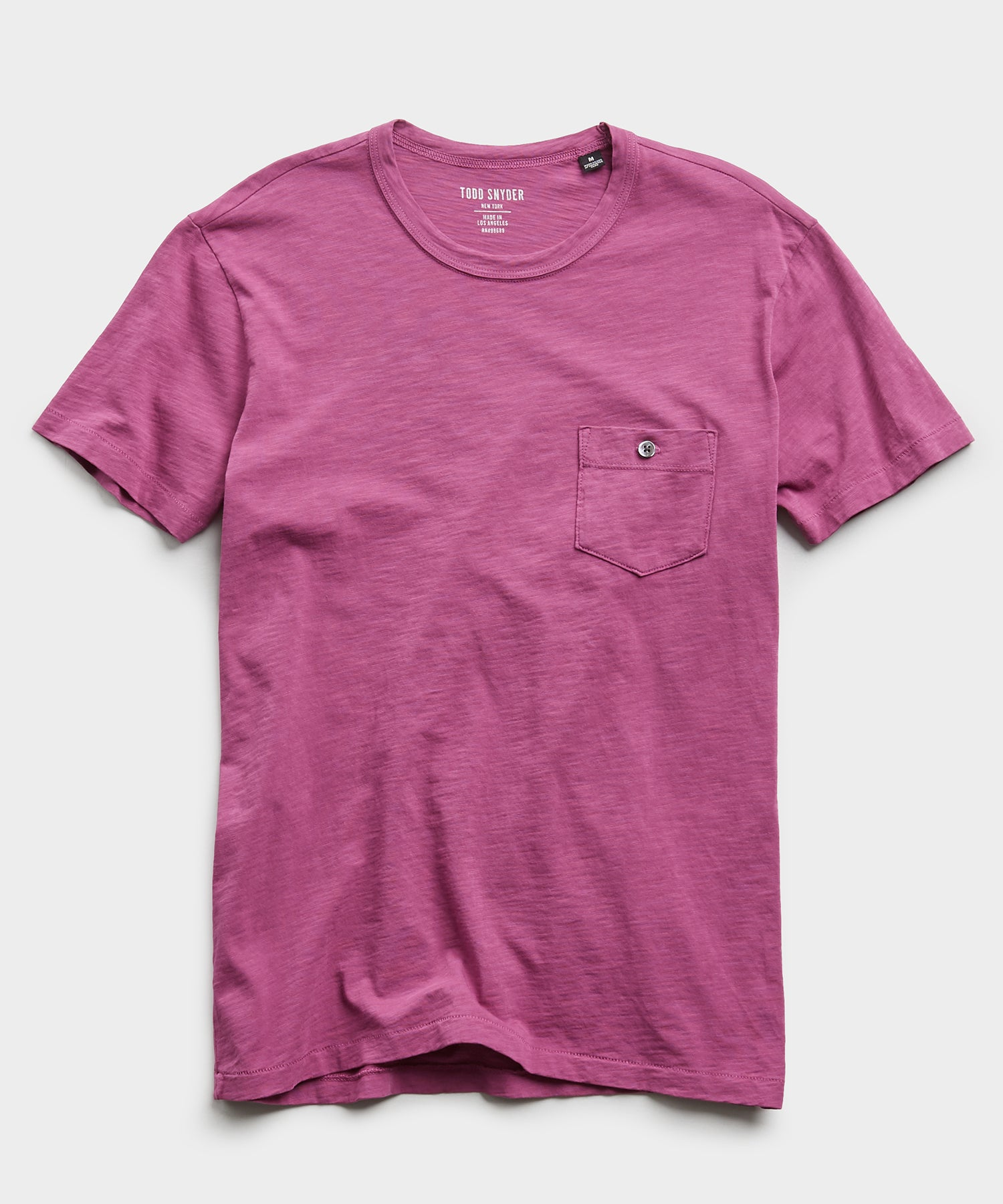 Made In L.A. Slub Jersey Pocket Tee in Magenta Mist