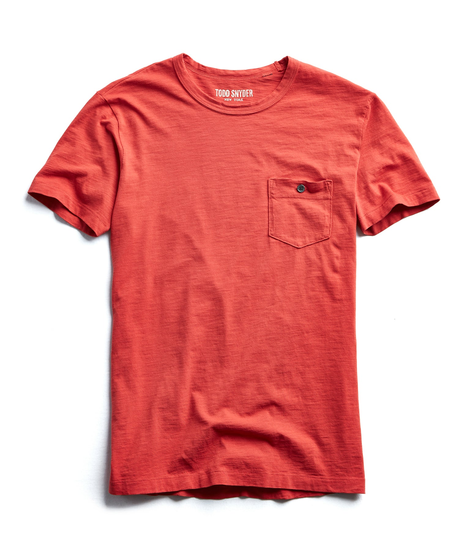 Made in L.A. Slub Jersey Pocket T-Shirt in Cayenne