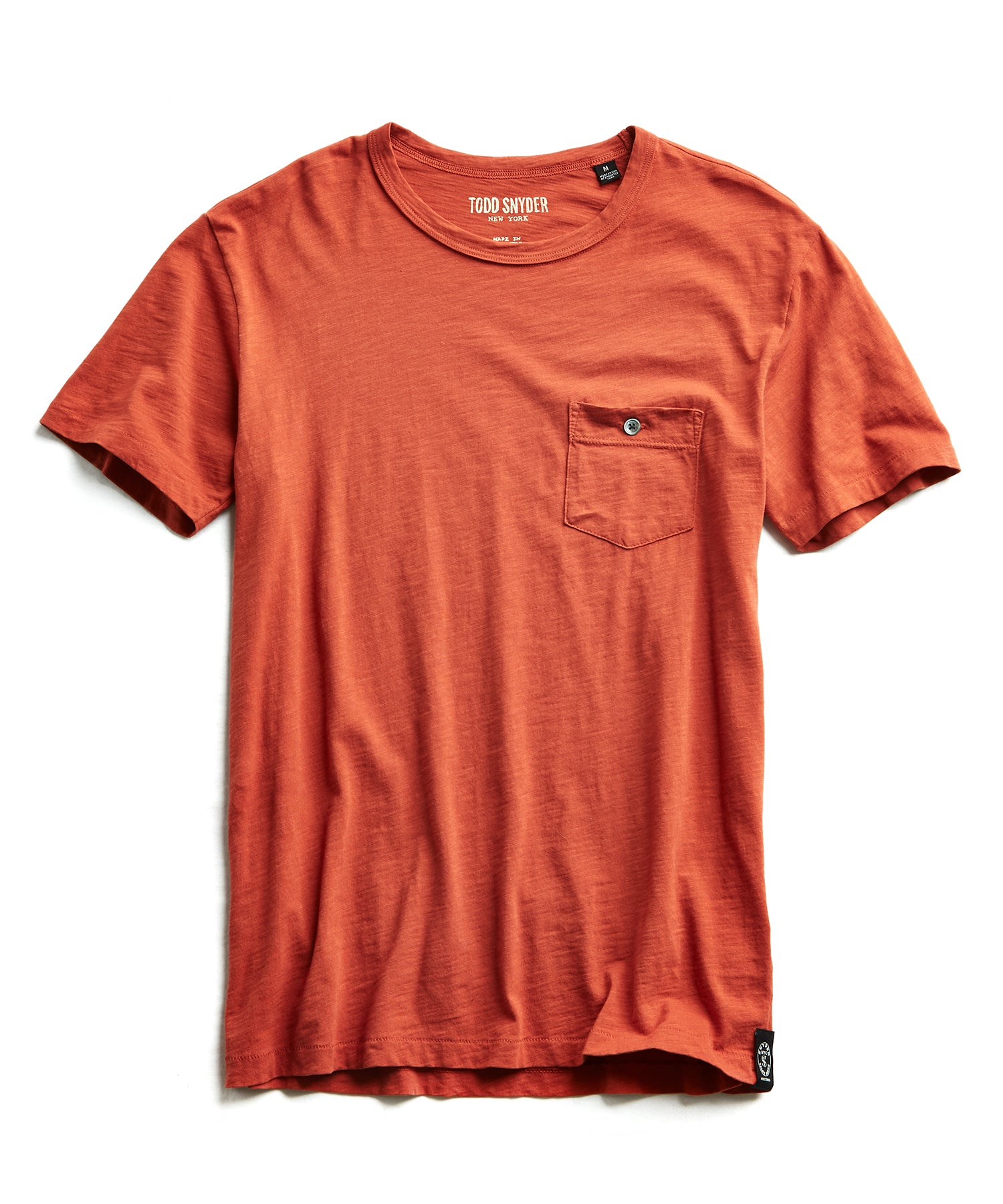 Made in L.A. Slub Jersey Pocket T-Shirt in Spice