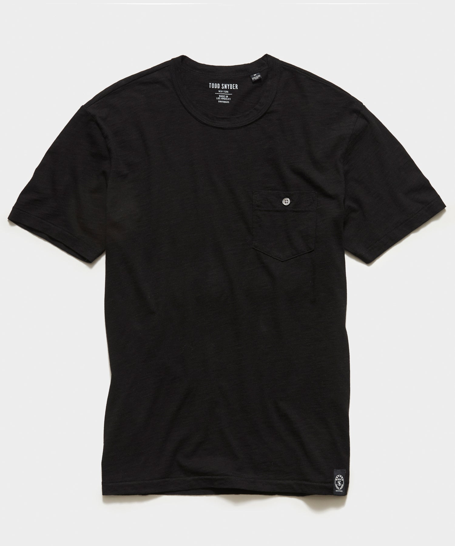Made in L.A. Slub Jersey Pocket T-Shirt in Black
