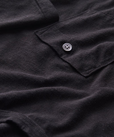 Made in L.A. Homespun Slub Pocket T-Shirt in Black