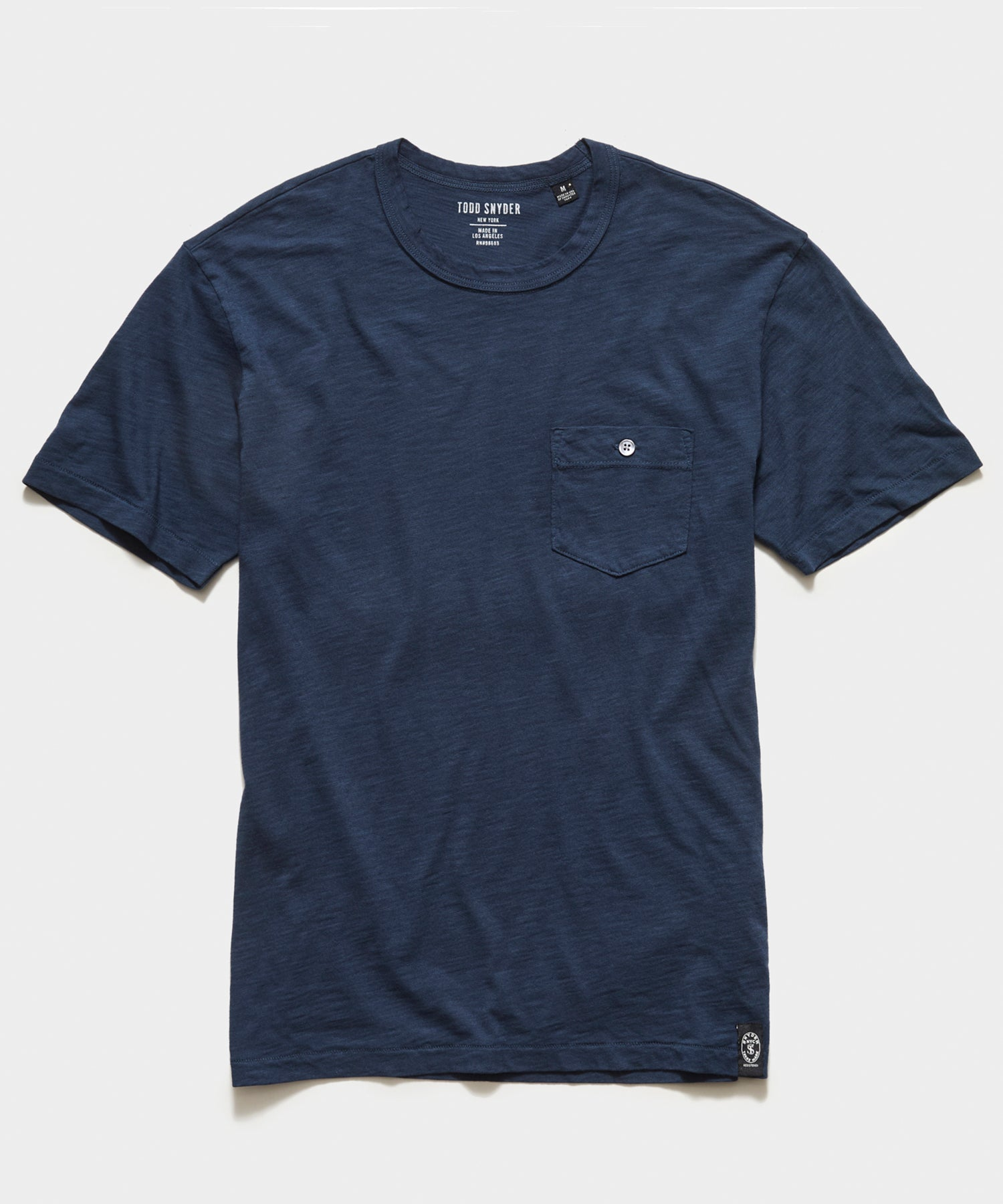 Made in L.A. Homespun Slub Pocket T-Shirt in Original Navy