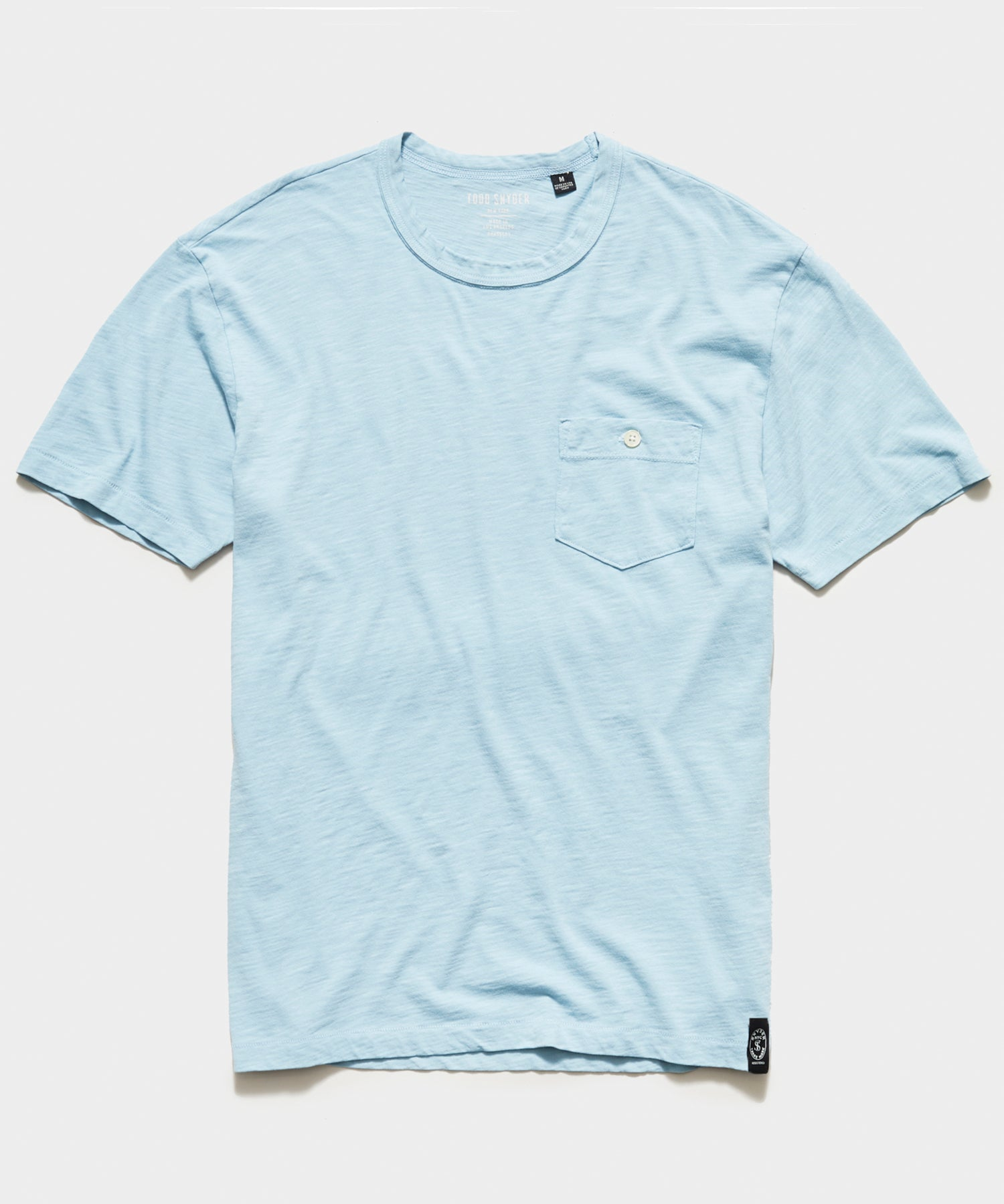 Made In L.A. Slub Jersey Pocket T-Shirt in Powder Blue