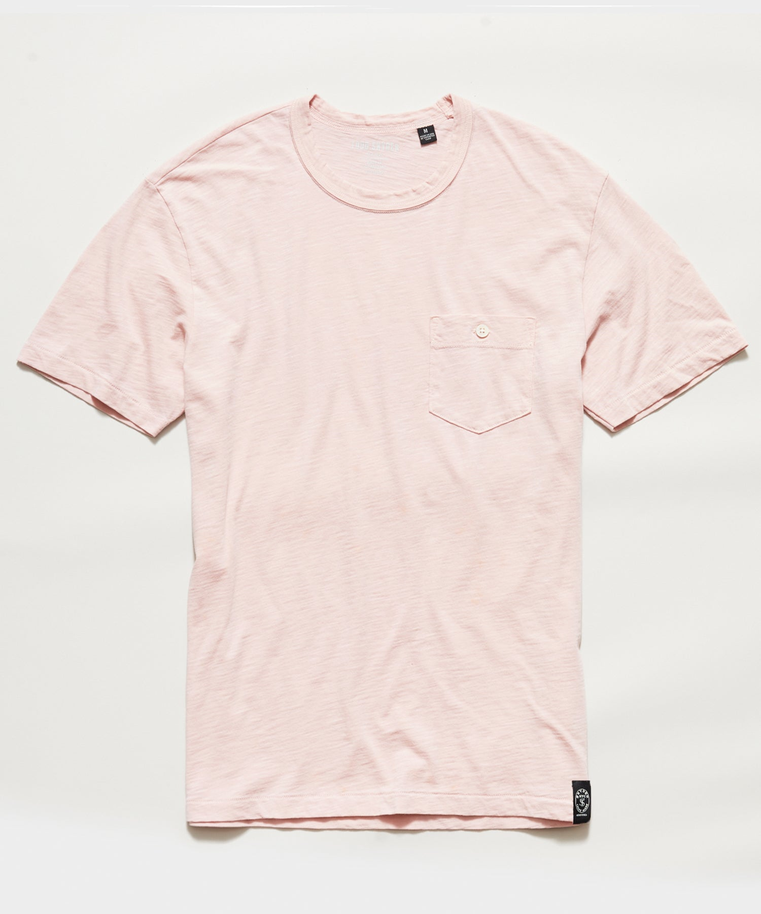 Made In L.A. Slub Jersey Pocket T-Shirt in Pink Petal
