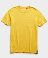 Made in L.A. Slub Jersey Pocket T-Shirt in Maize