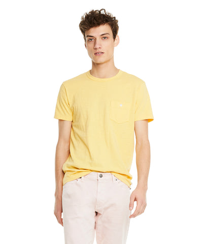 Made in L.A. Slub Jersey Pocket T-Shirt in Golden Yellow