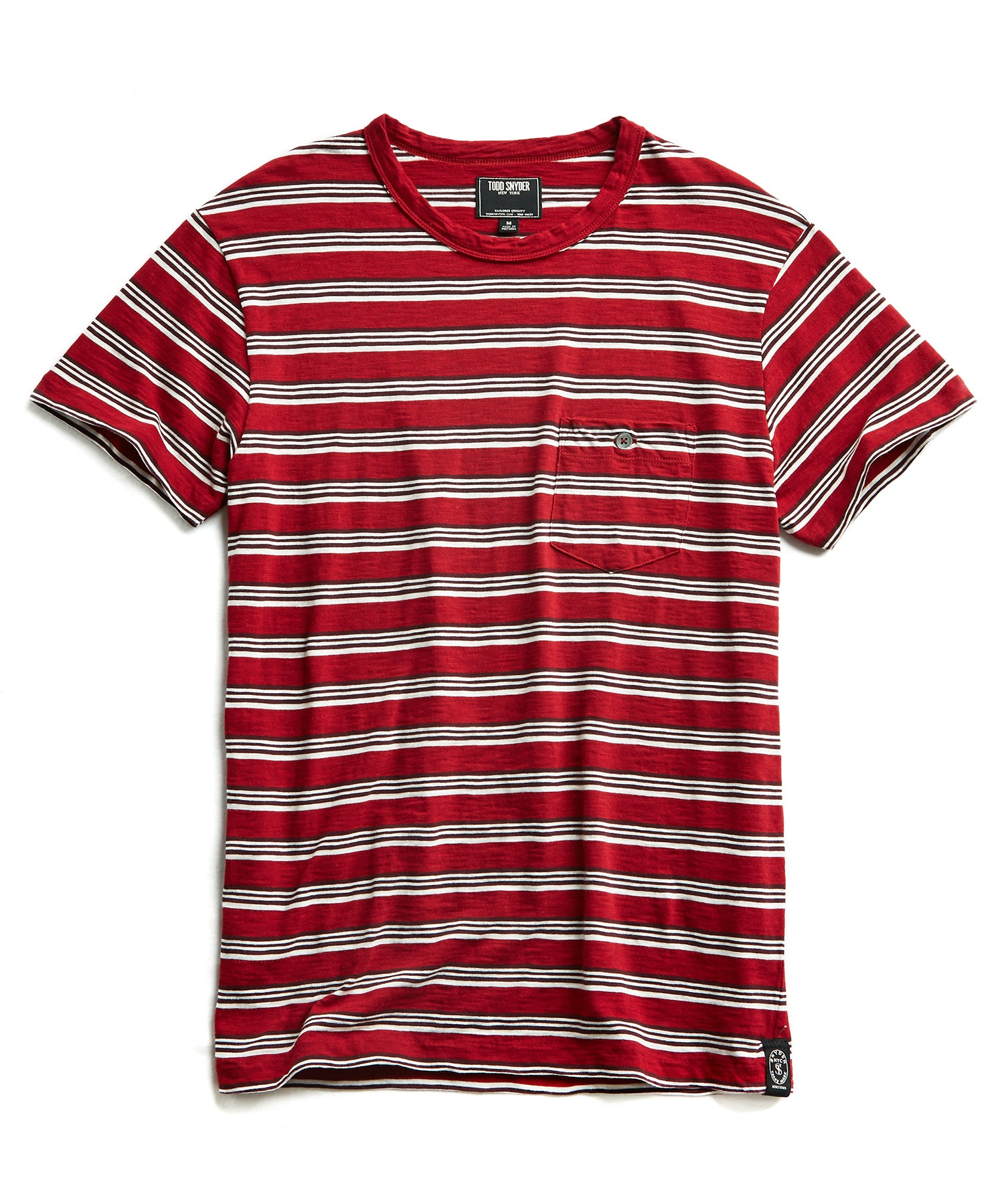 Short Sleeve Stripe T-Shirt in Red