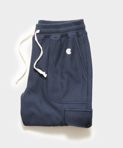 Utility Cargo Sweatpant in Original Navy