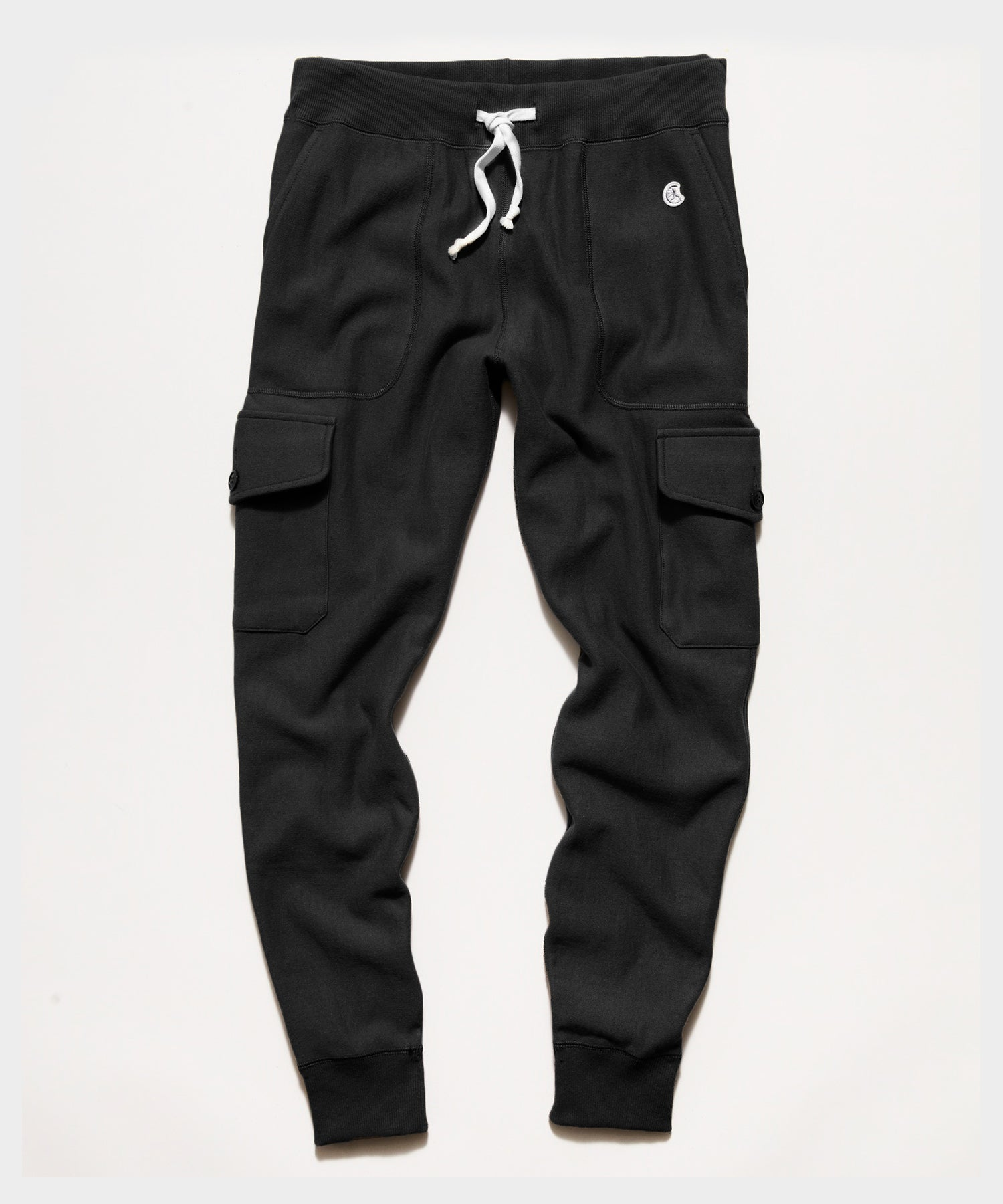 Utility Cargo Sweatpant in Black