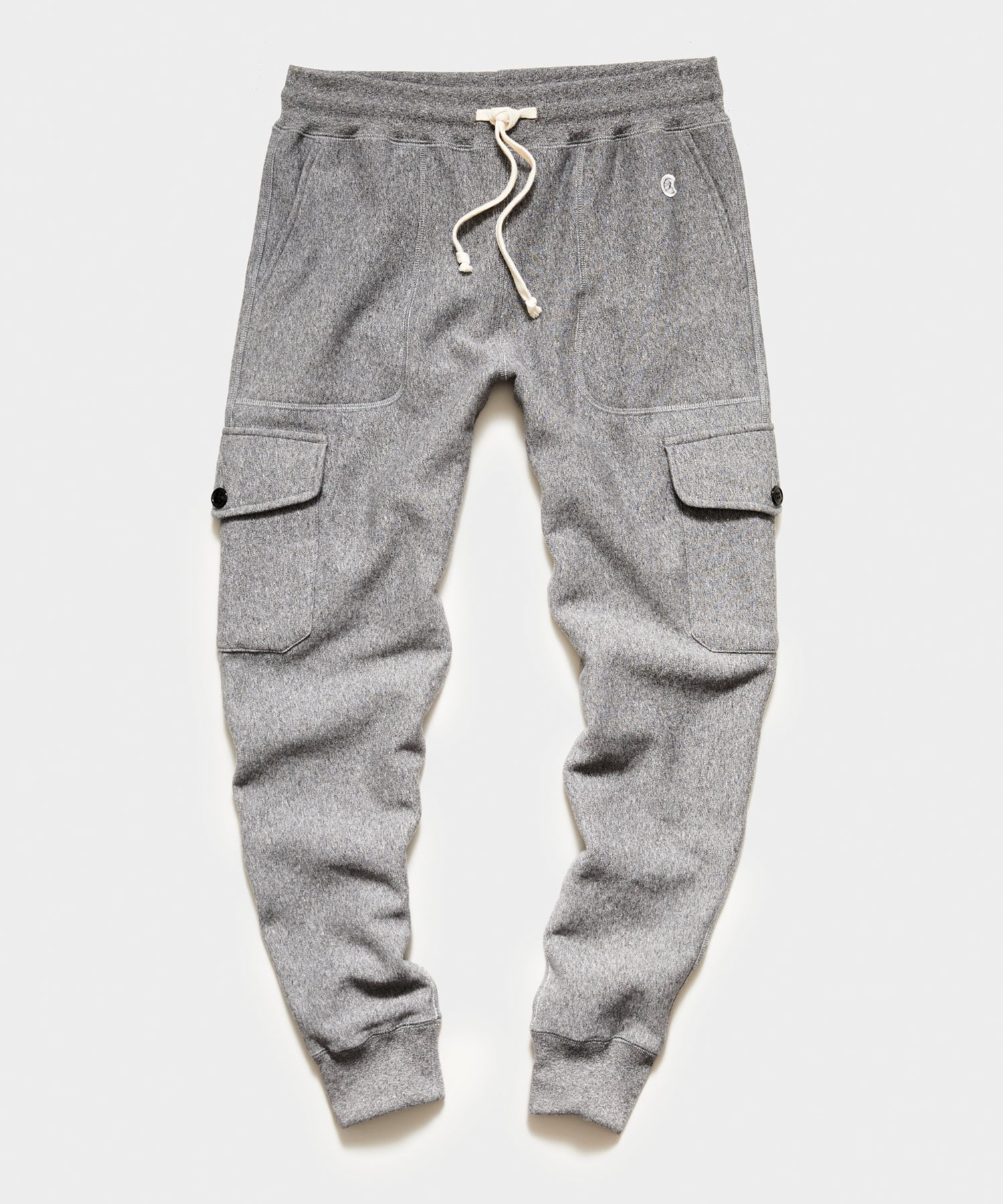 Utility Cargo Sweatpant in Salt and Pepper