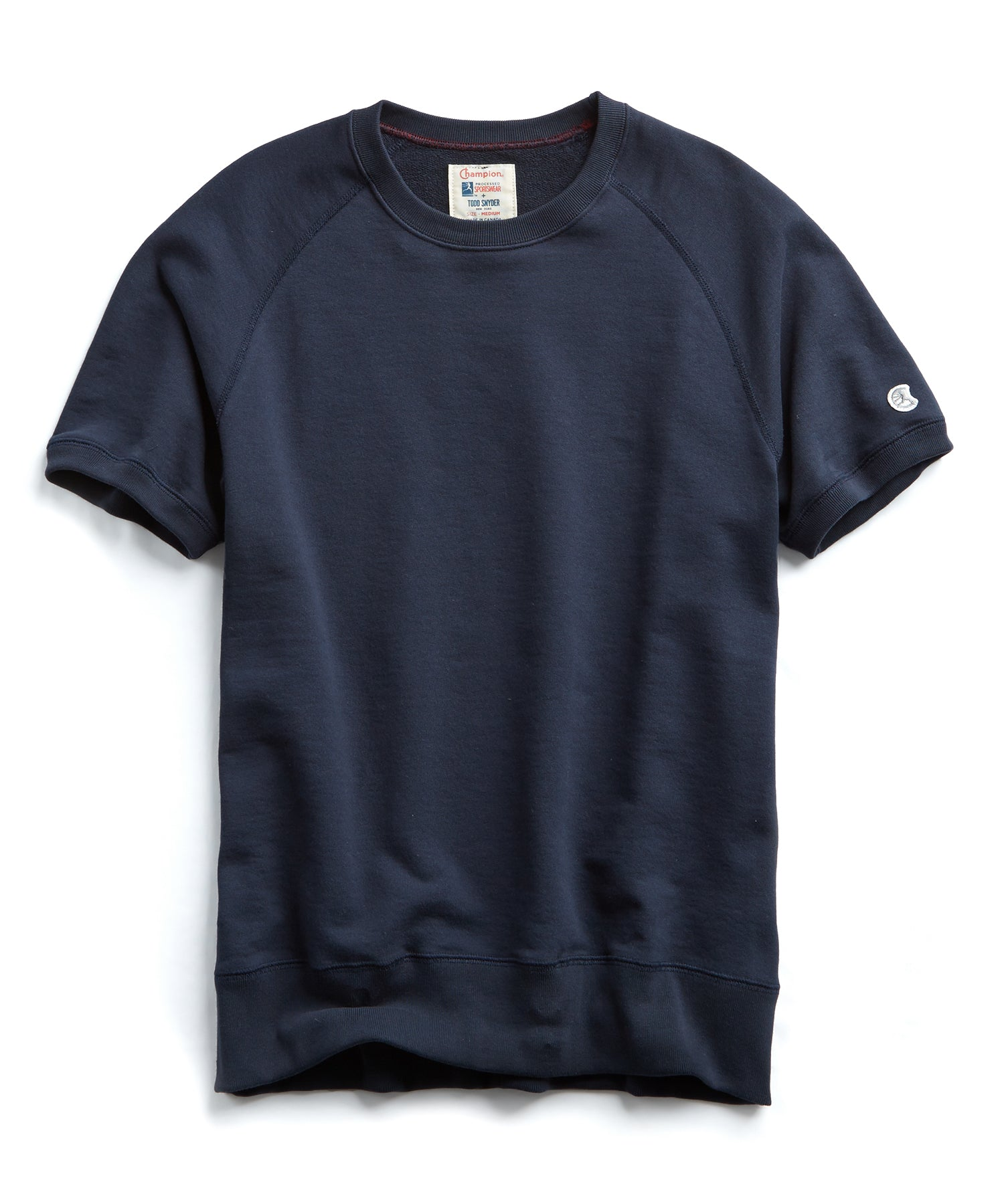 Terry Short Sleeve Sweatshirt in Navy