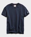 Heavyweight Short Sleeve Sweatshirt in Navy