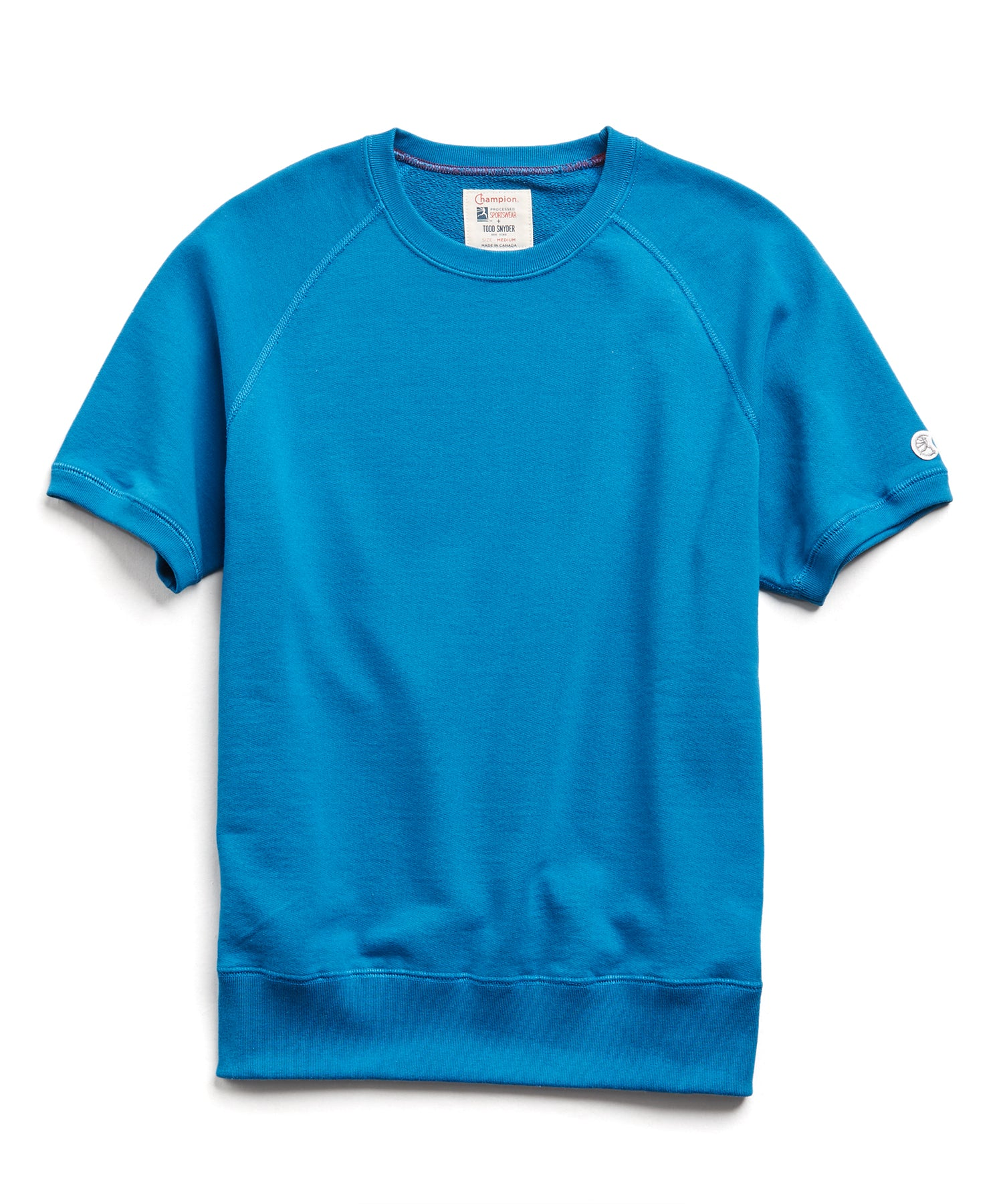 Terry Short Sleeve Sweatshirt in Slate Teal