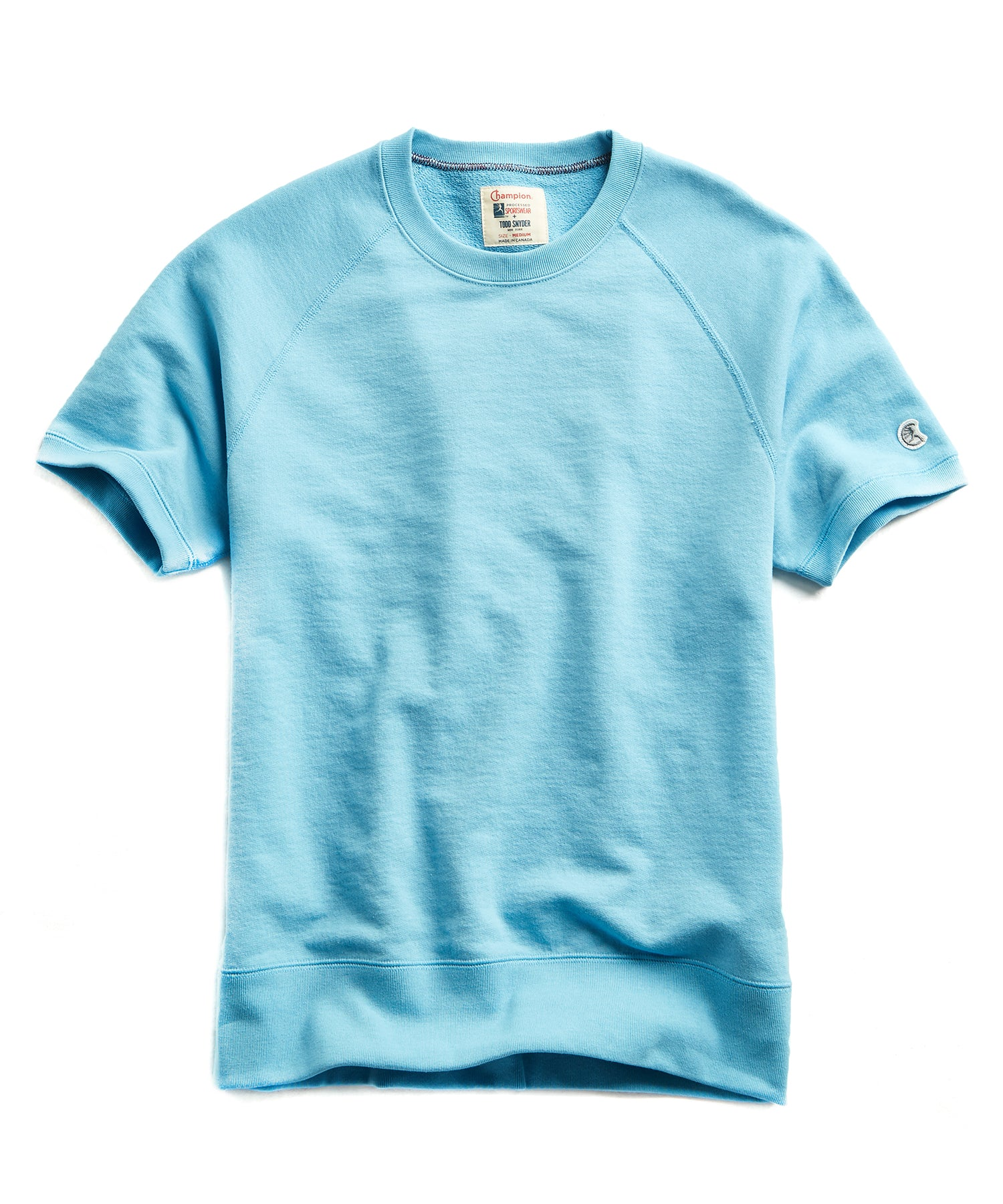 Terry Short Sleeve Sweatshirt in Pool Blue