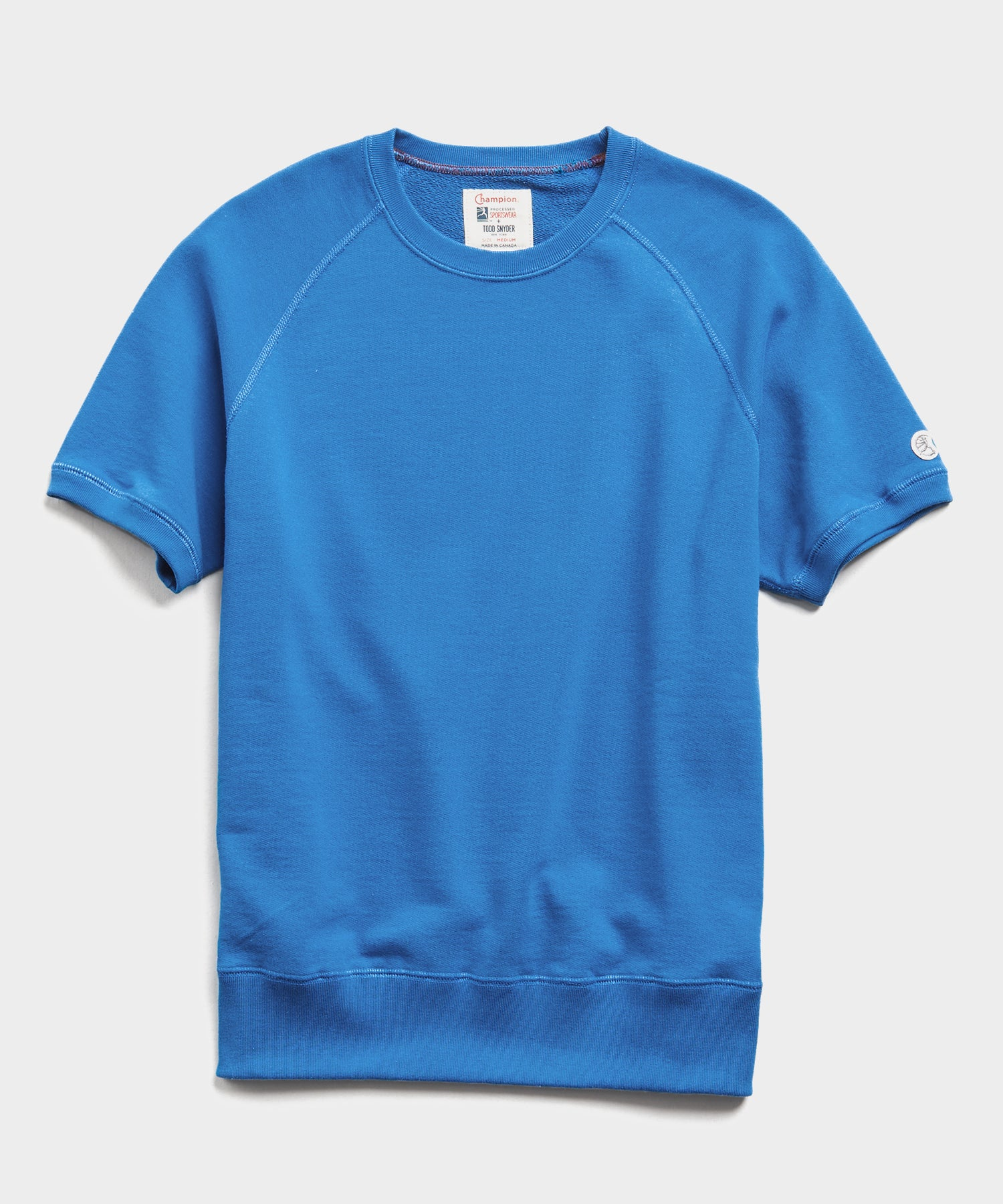 Lightweight Short Sleeve Sweatshirt in Yacht Club Blue