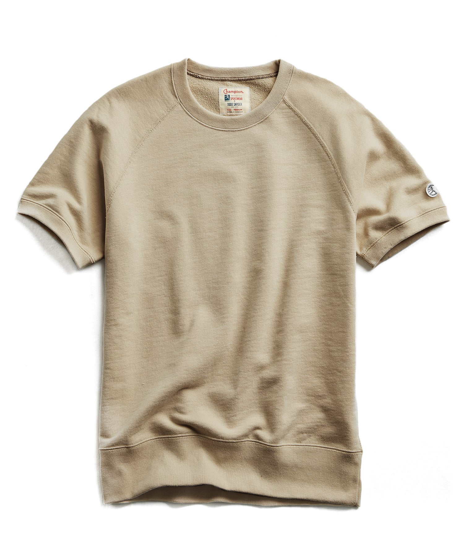 Terry Short Sleeve Sweatshirt in Dark Driftwood