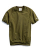 Short Sleeve Sweatshirt in Military Olive Alternate Image