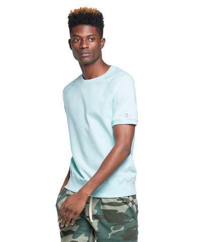 Terry Short Sleeve Sweatshirt in Surf Green