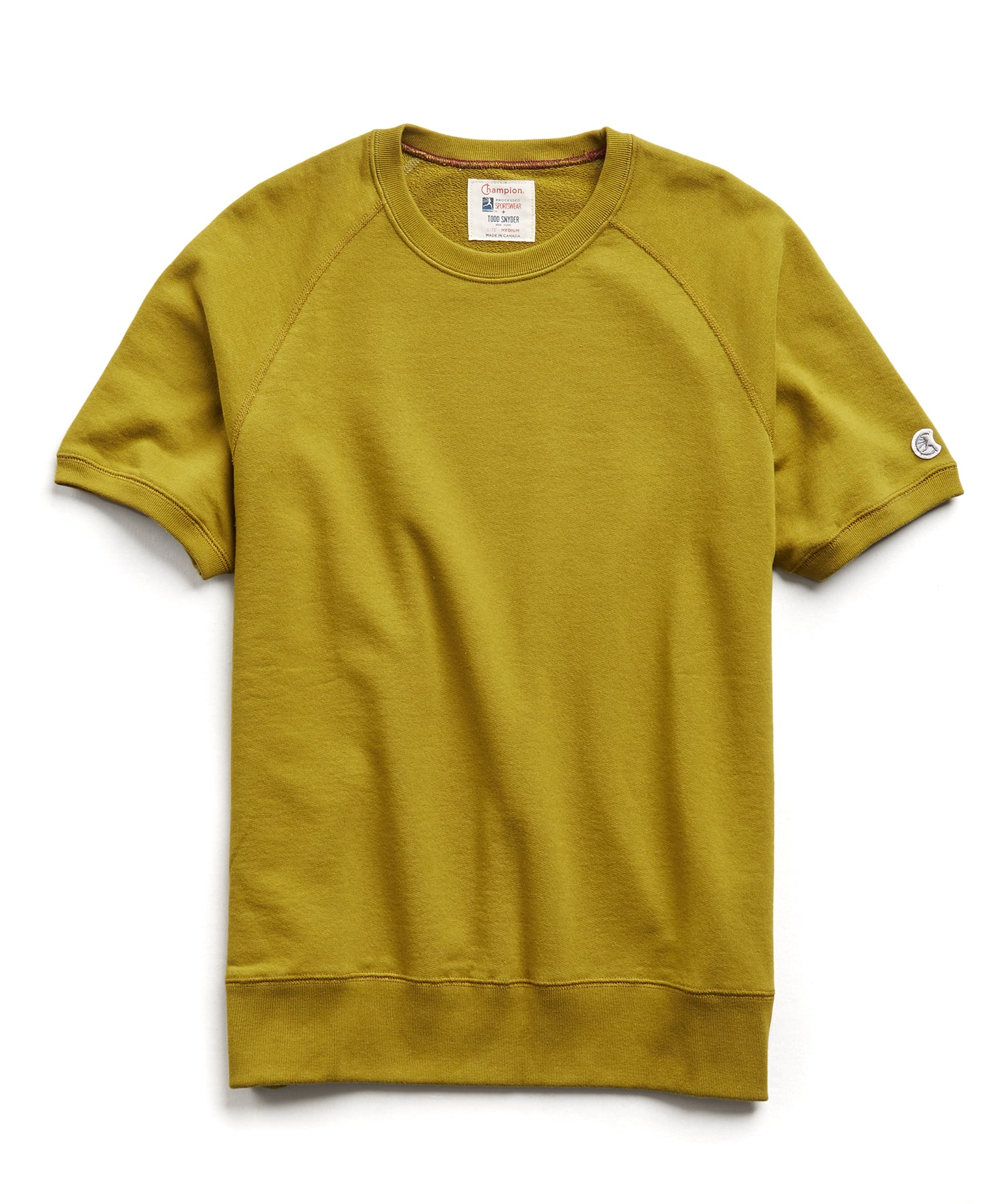 Terry Short Sleeve Sweatshirt in Lime Leaf
