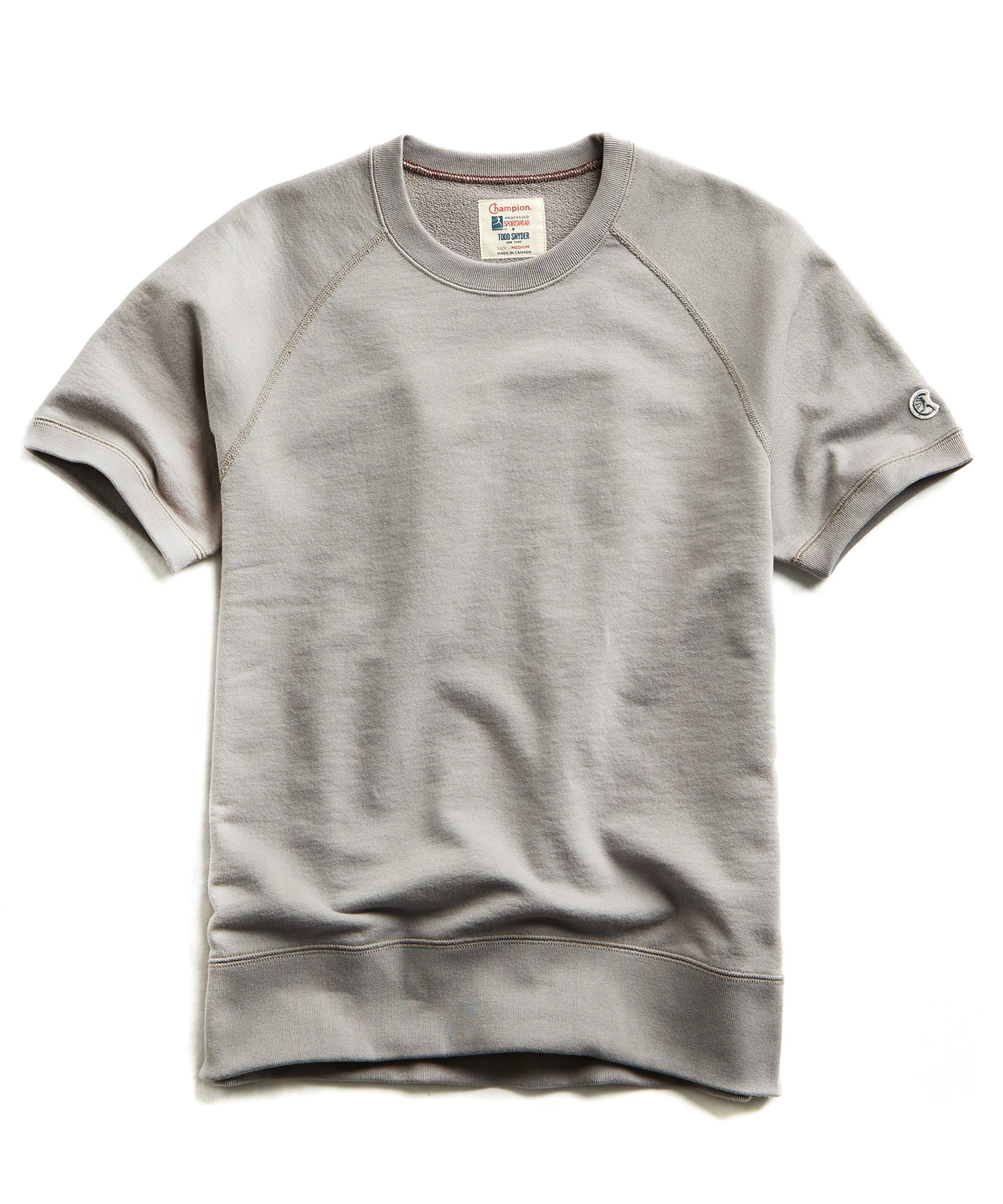 Terry Short Sleeve Sweatshirt in Pebble Grey