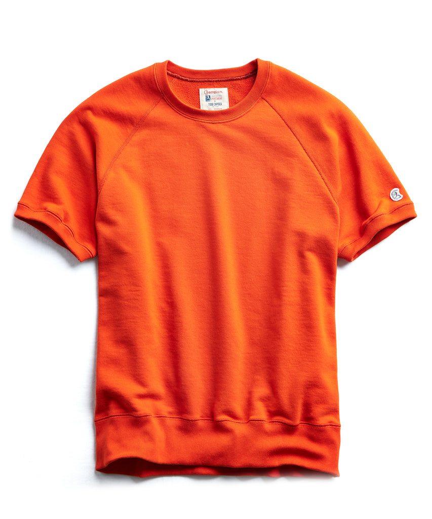 Terry Short Sleeve Sweatshirt in Sunset Orange