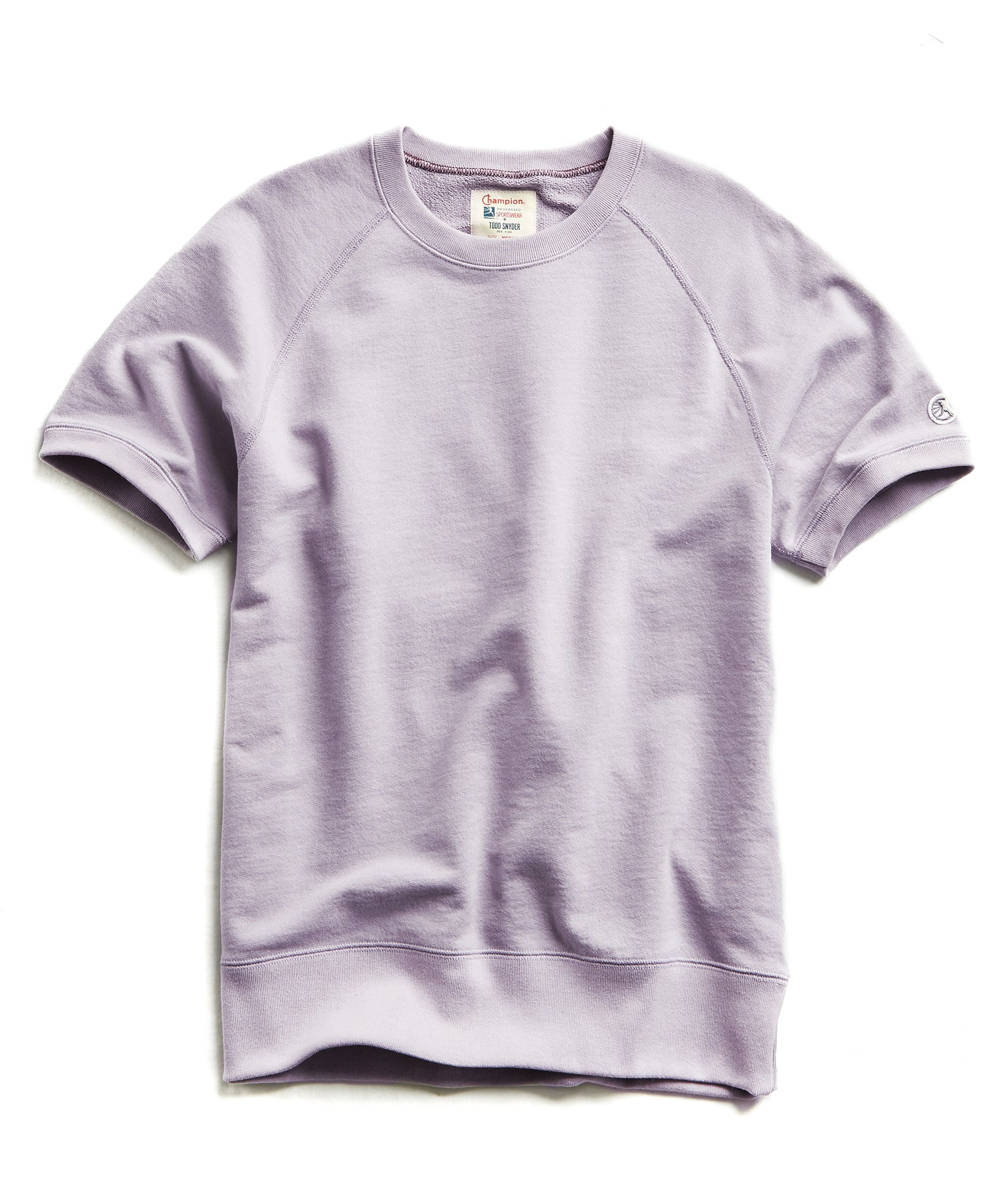Terry Short Sleeve Sweatshirt in Wisteria