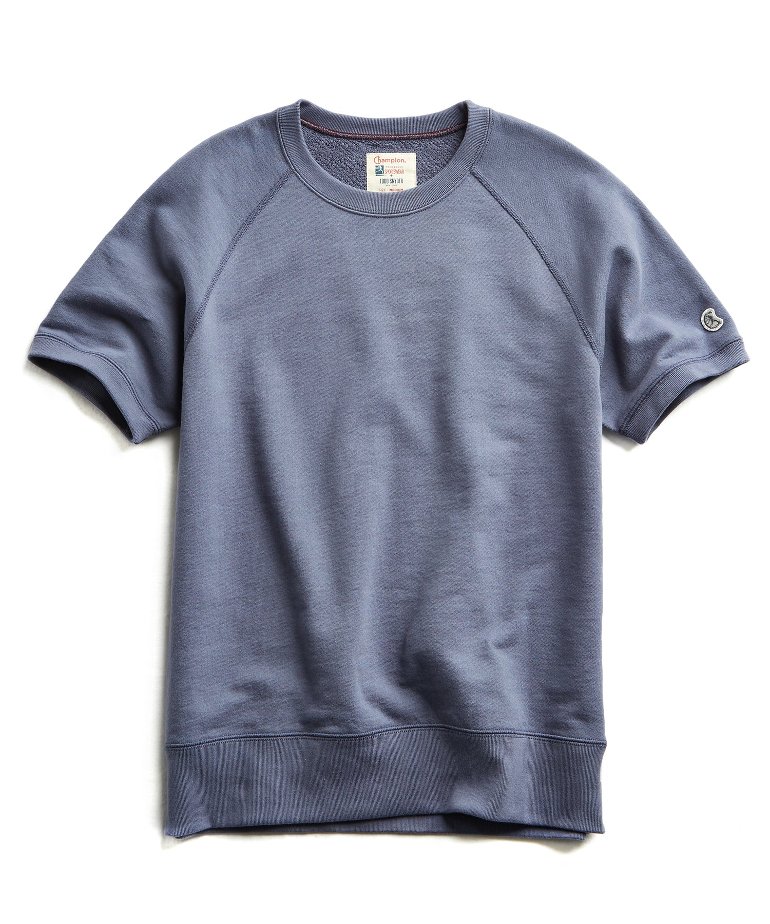Terry Short Sleeve Sweatshirt in Vintage Grape