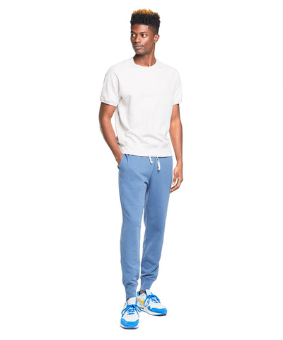 Terry Slim Jogger Sweatpant in Blue Grotto