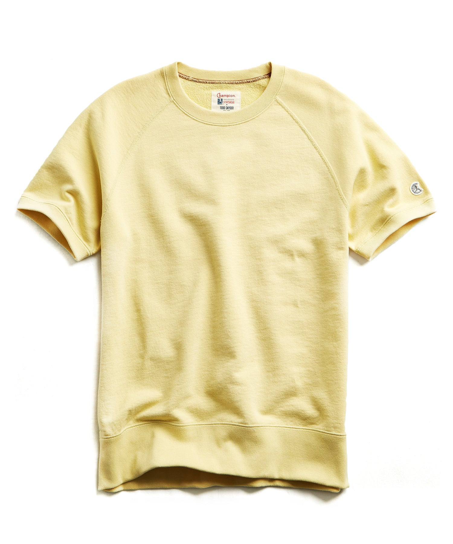 Terry Short Sleeve Sweatshirt in Fresh Lemon