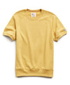 Lightweight Short Sleeve Sweatshirt in Goldenrod
