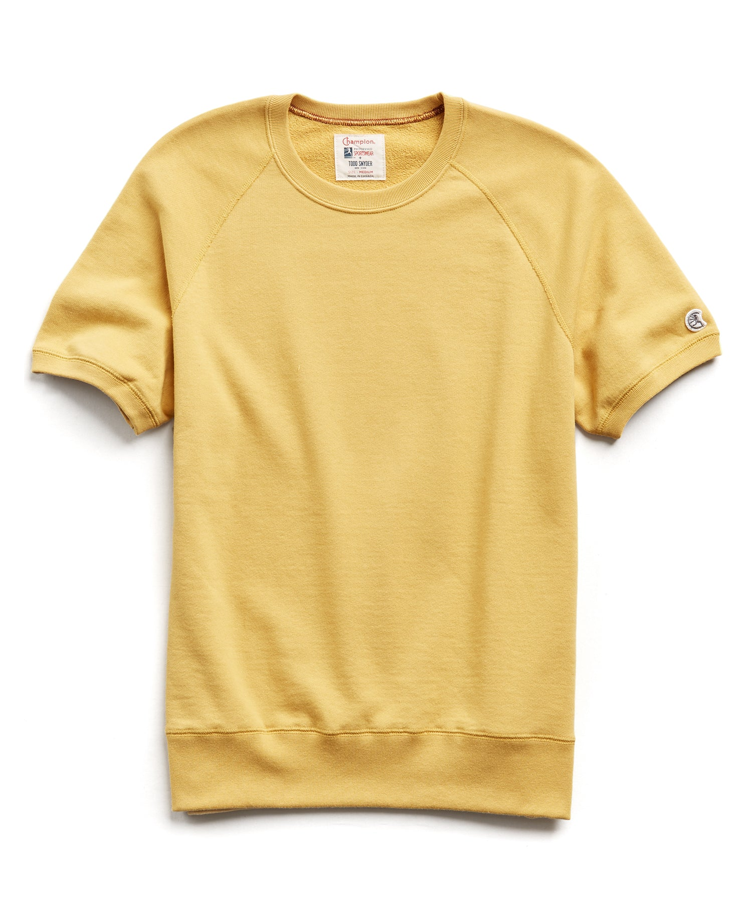 Terry Short Sleeve Sweatshirt in Goldenrod