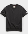 Lightweight Short Sleeve Sweatshirt in Black