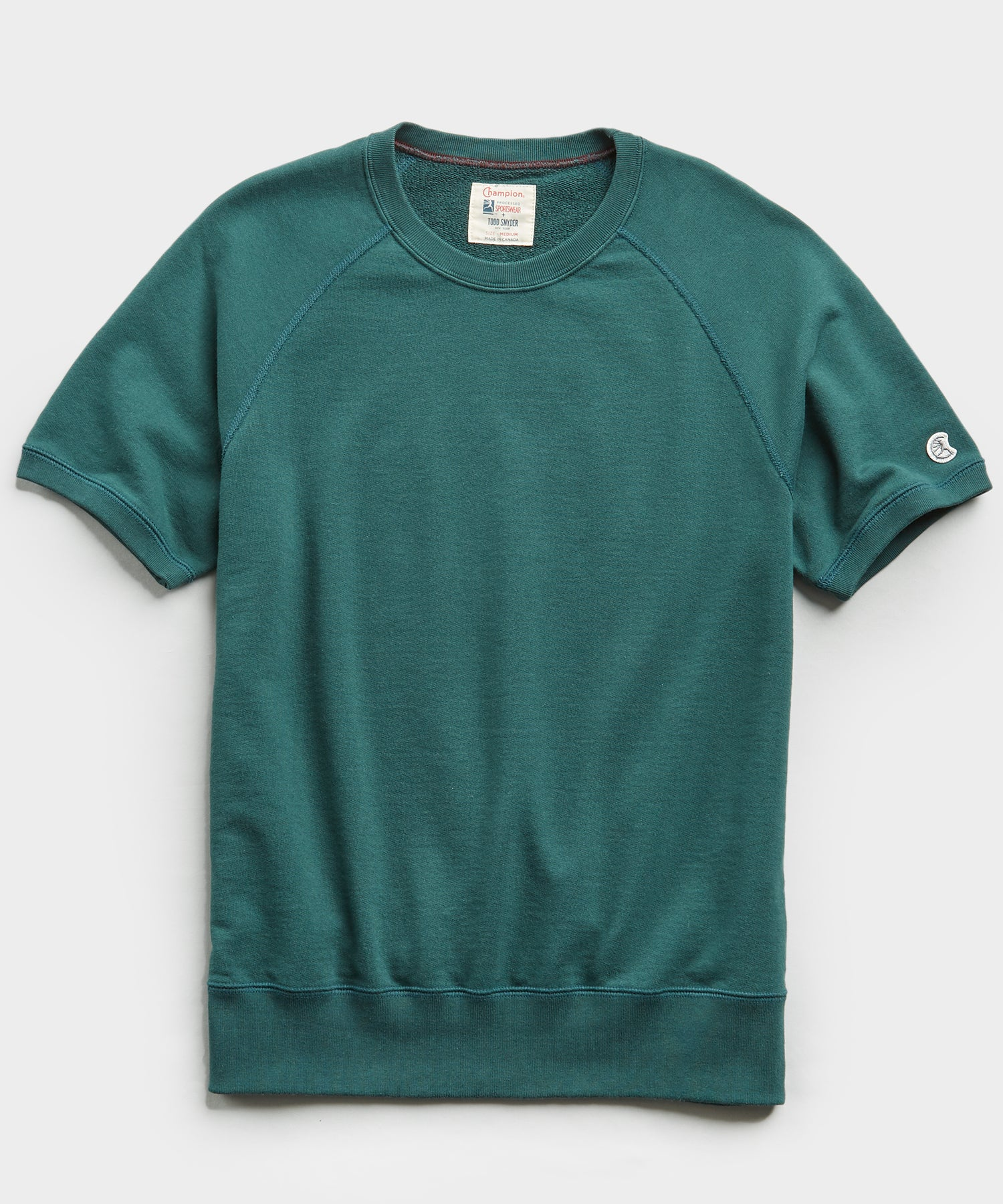 Terry Short Sleeve Sweatshirt in Storm Green