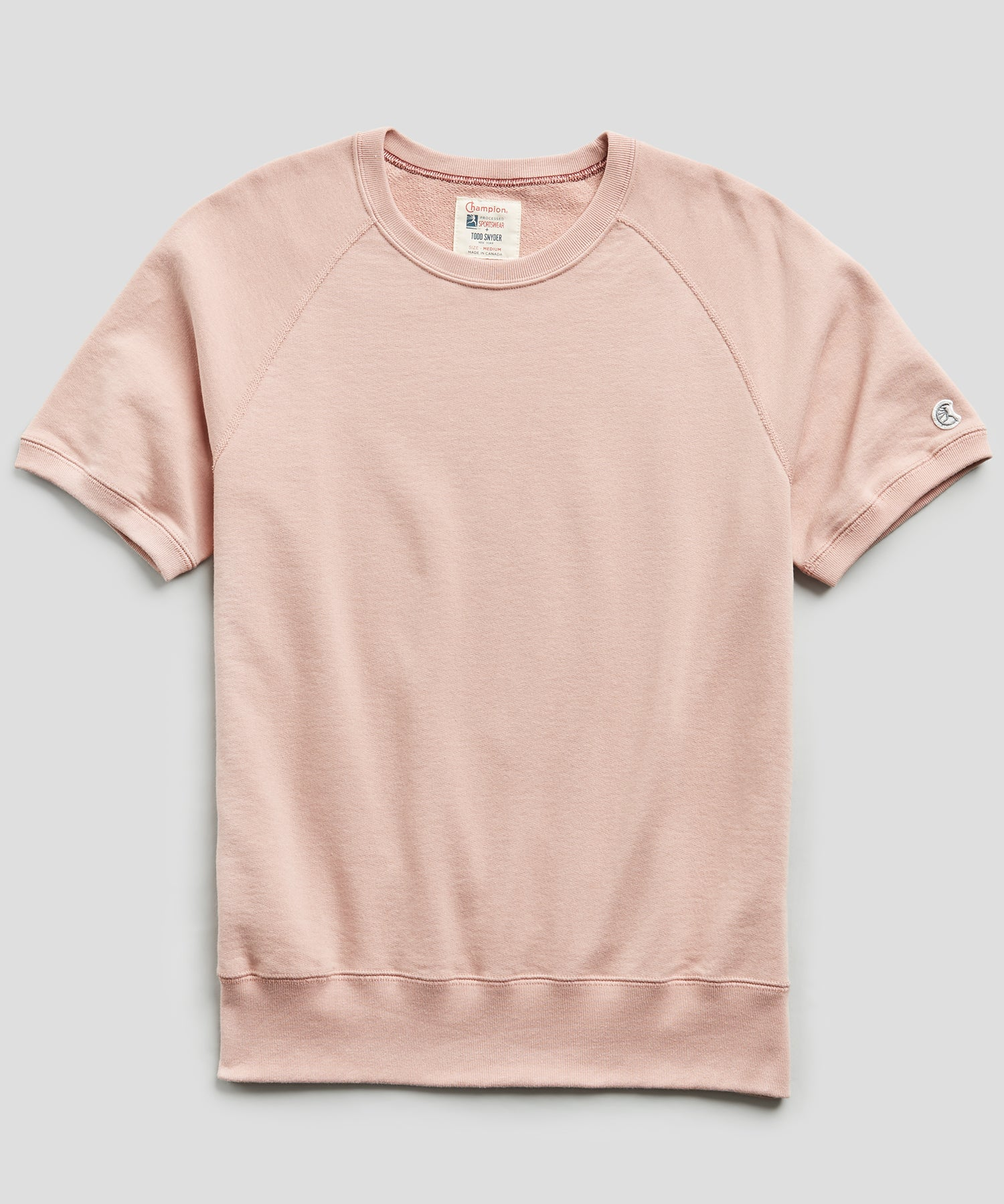 Terry Short Sleeve Sweatshirt in Desert Rose