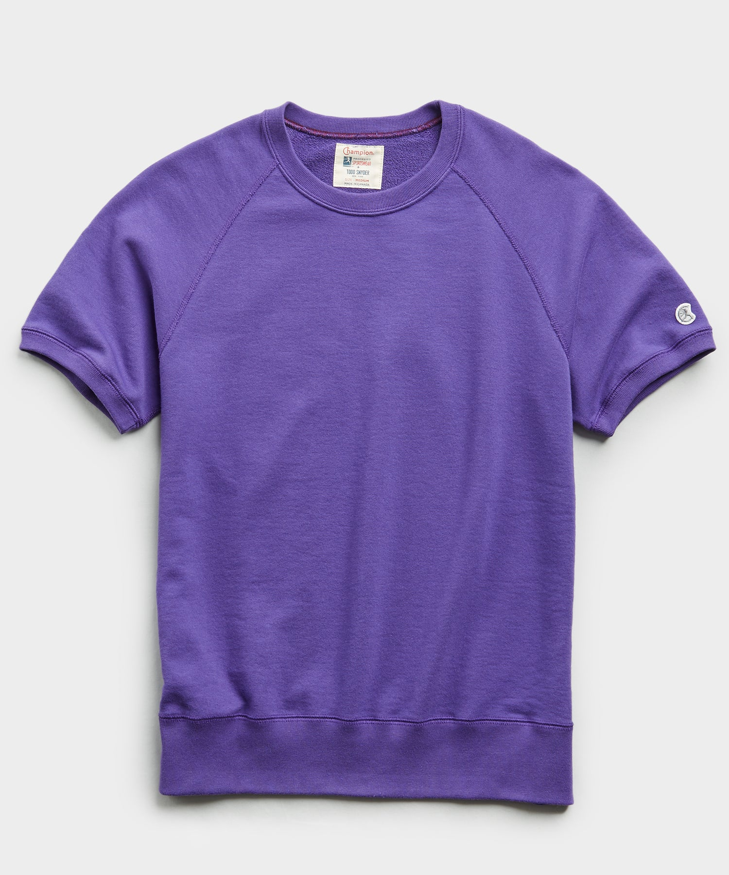 Terry Short Sleeve Sweatshirt in Royal Purple
