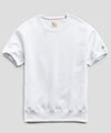Fleece Short Sleeve Sweatshirt in White