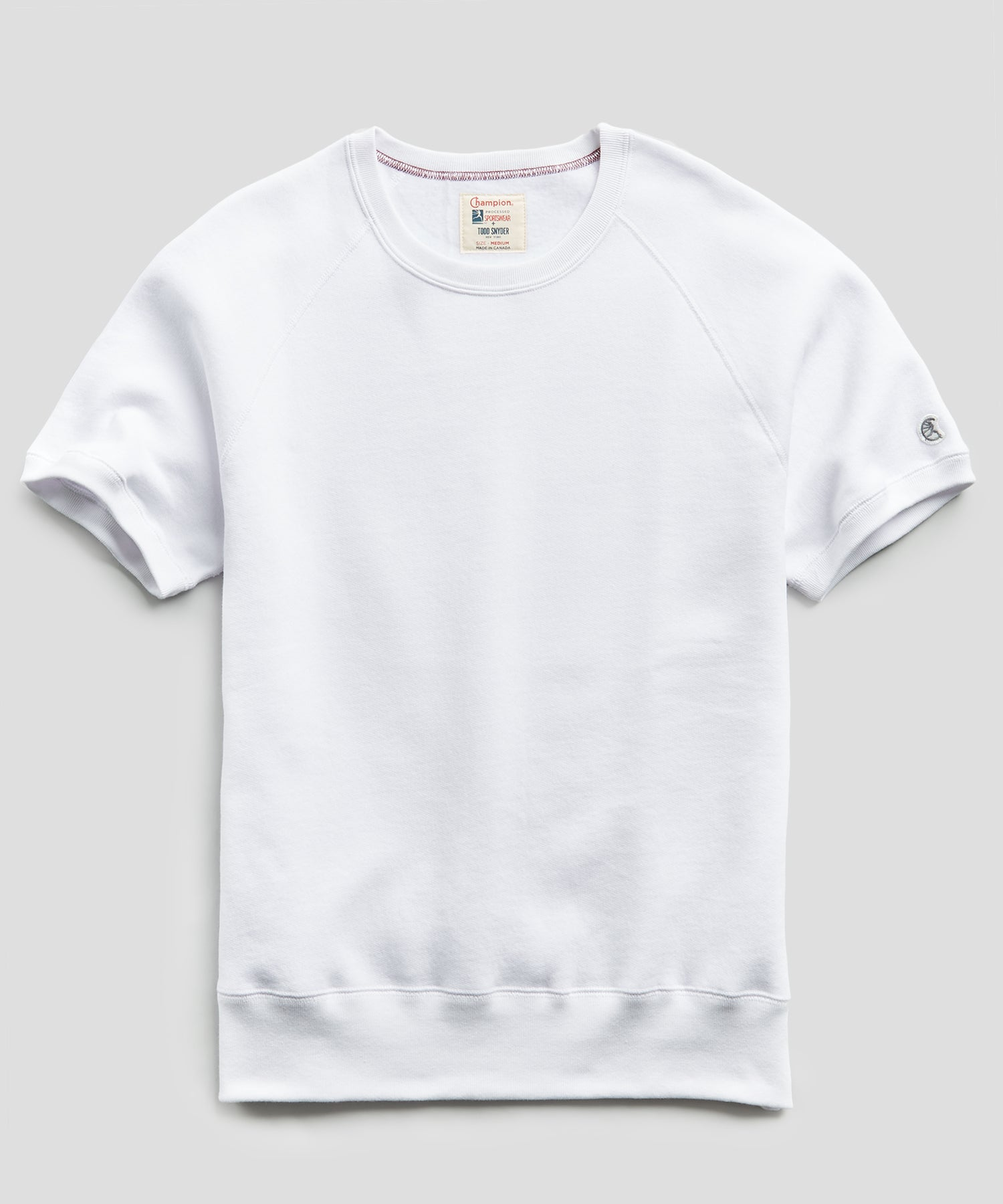 Heavyweight Short Sleeve Sweatshirt in White