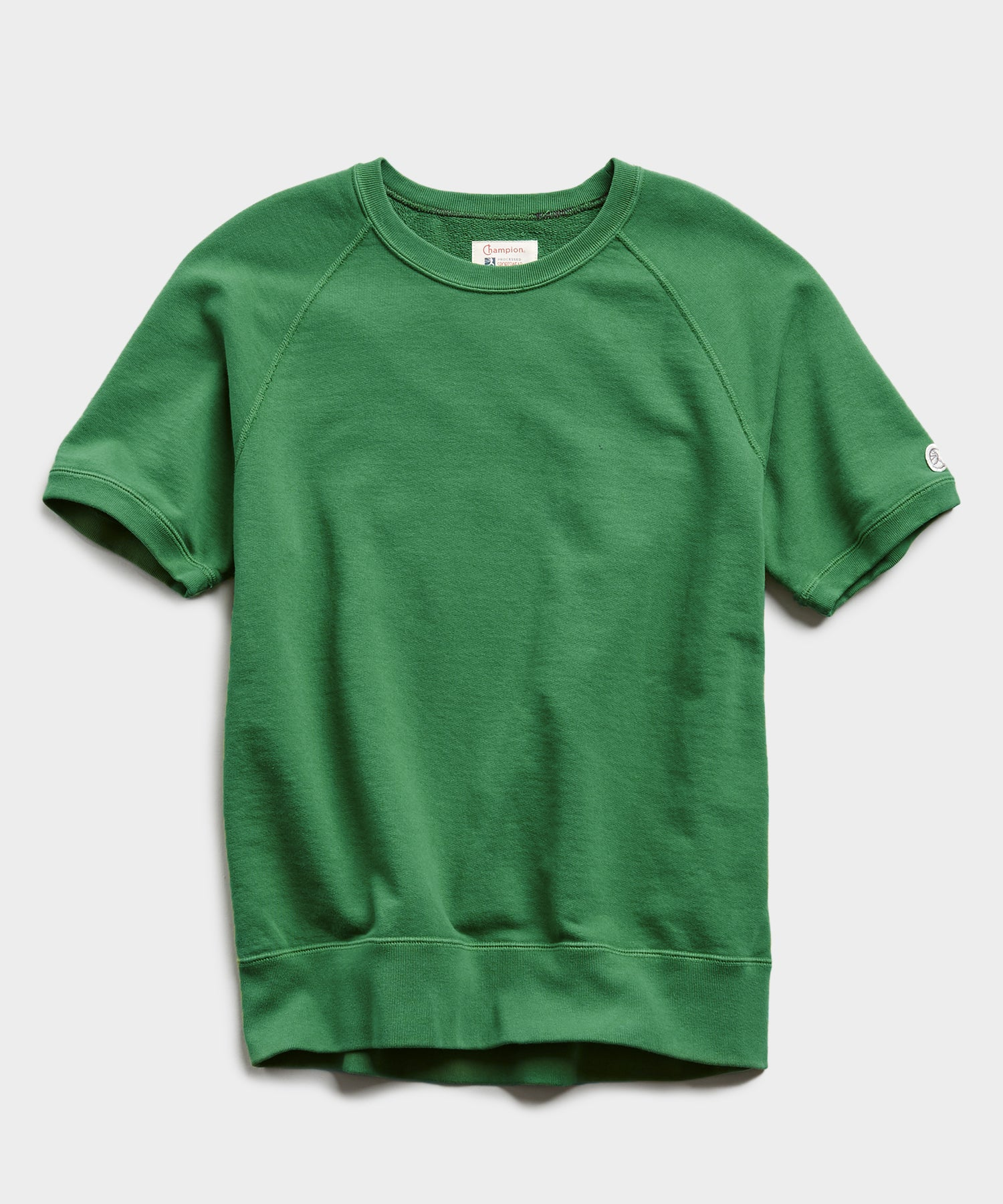 Lightweight Short Sleeve Sweatshirt in Cabana Green