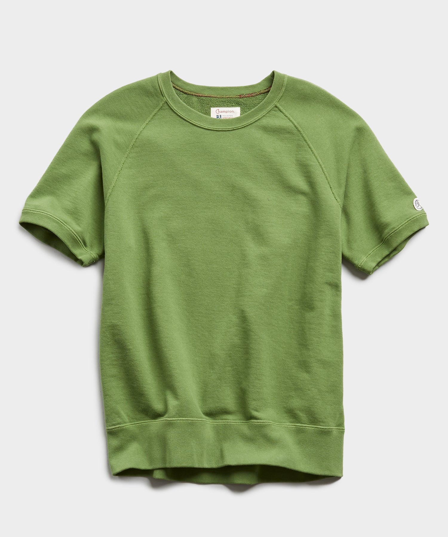 Lightweight Short Sleeve Sweatshirt in Guacamole