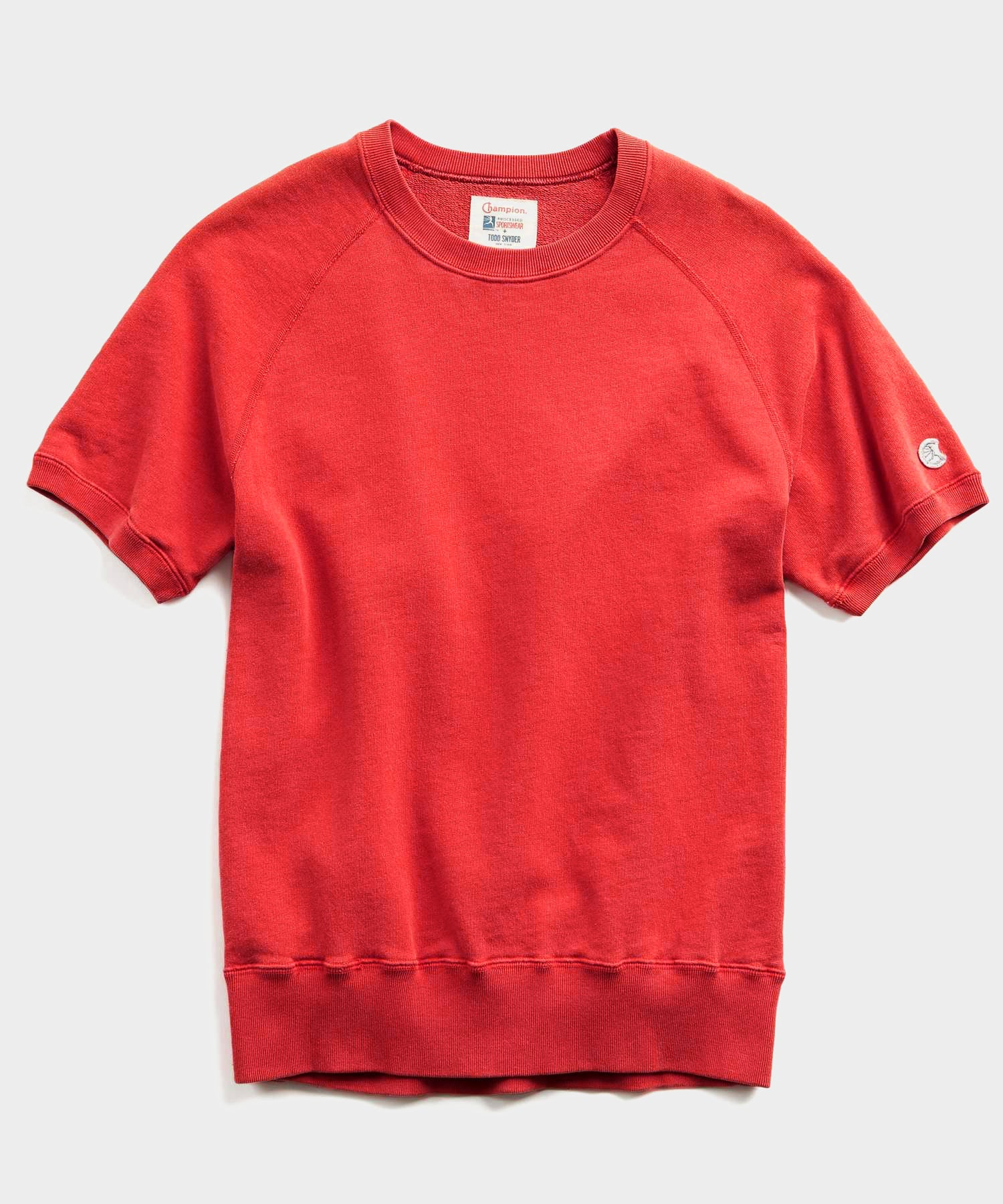 Lightweight Short Sleeve Sweatshirt in Bold Red