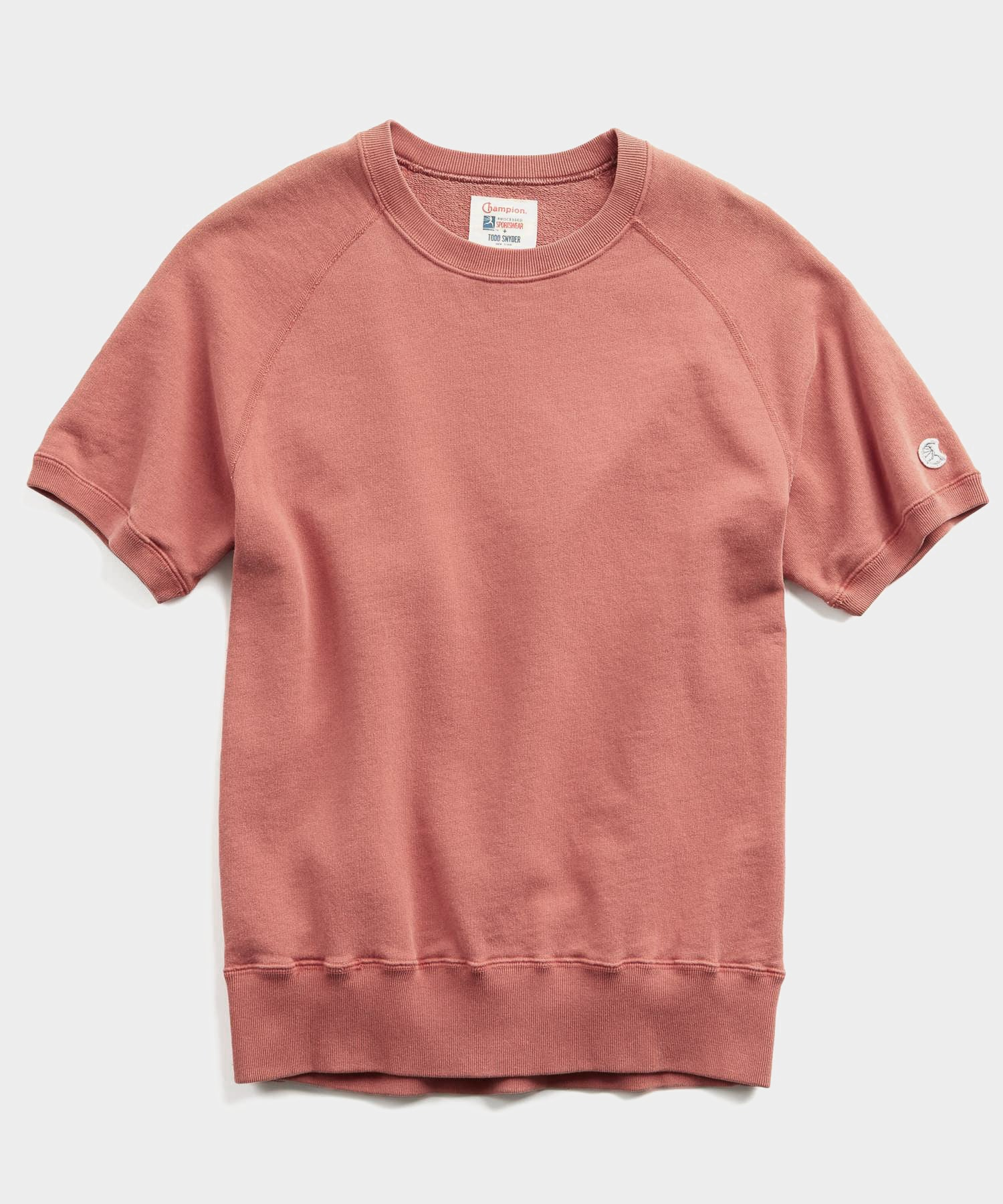 Lightweight Short Sleeve Sweatshirt in Rosewine