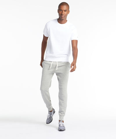 Fleece Slim Sweatpant in Light Grey Mix