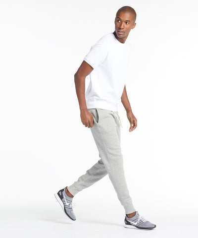 Slim Sweatpant in Light Grey Mix