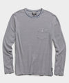 Long Sleeve Stripe Pocket Tee