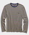 Nautical Striped Long Sleeve T-Shirt in Navy