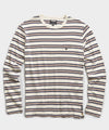Variegated Long Sleeve Striped T-Shirt